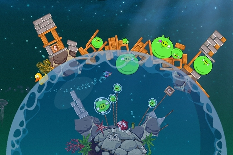 Modojo | Angry Birds Space Pig Dipper Walkthrough Part 2