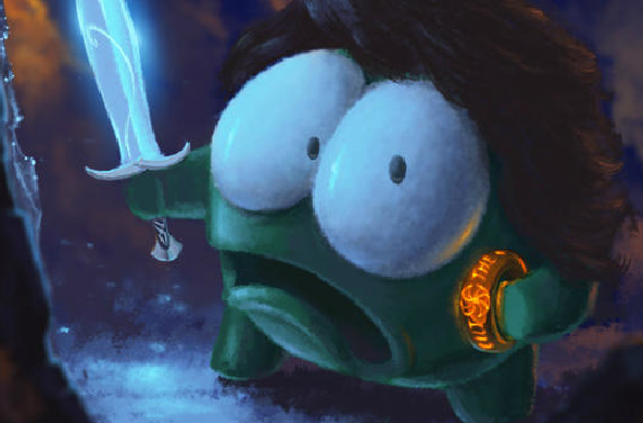 Modojo | Cut The Rope's Om Nom Celebrates The Hobbit Oscar Nominations