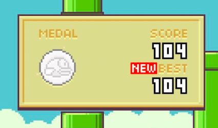 Modojo | Flappy Bird High Score 104