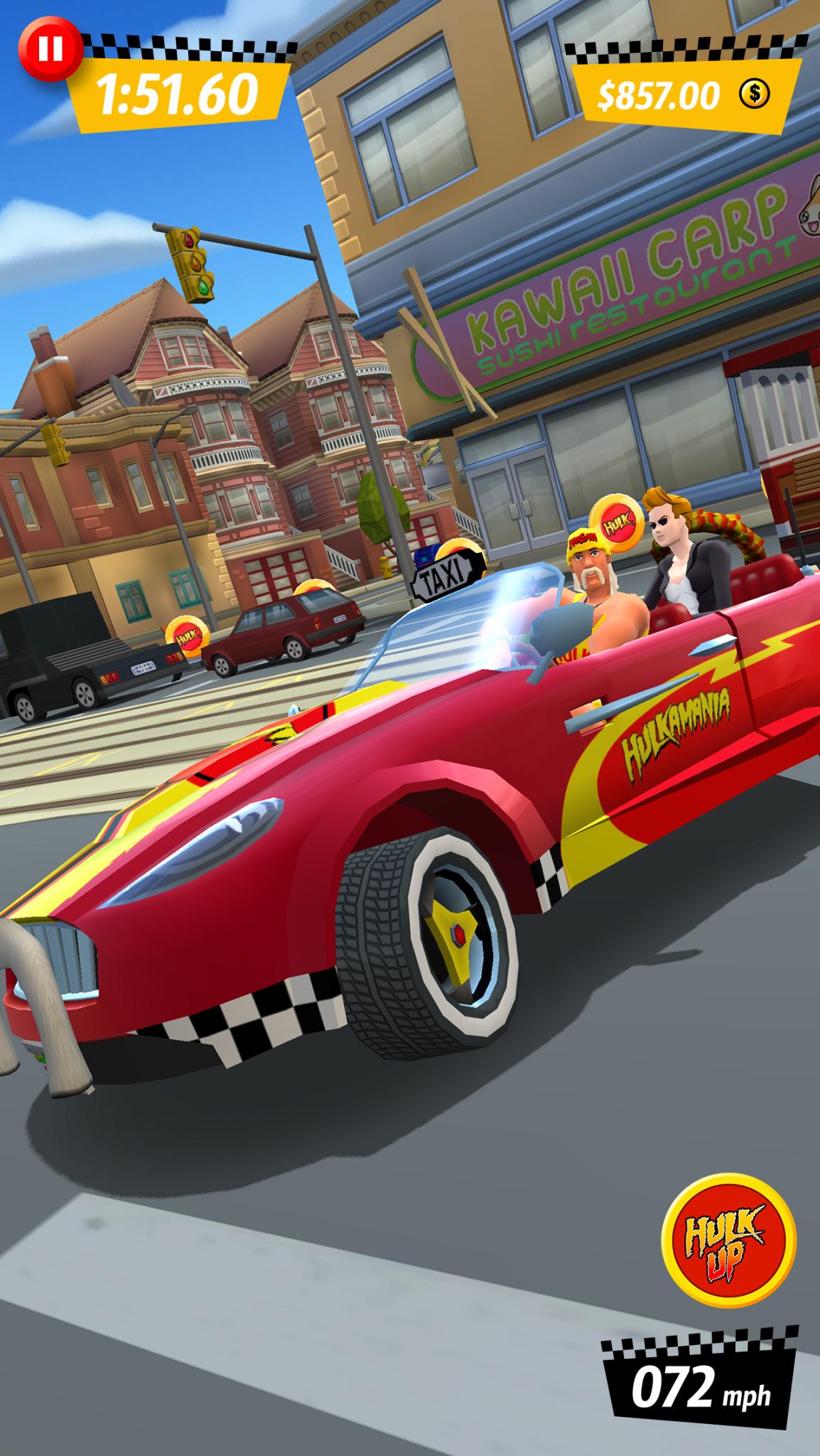 Modojo | Hulk Hogan Joins the Cast of Crazy Taxi: City Rush