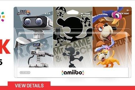 Modojo | Retro 3-Pack amiibo Available Right Now on Gamestop.com