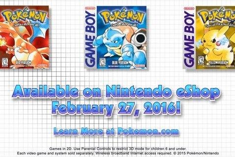 Modojo | Nintendo Direct: Pokemon Red, Blue, and Yellow Coming To Nintendo eShop