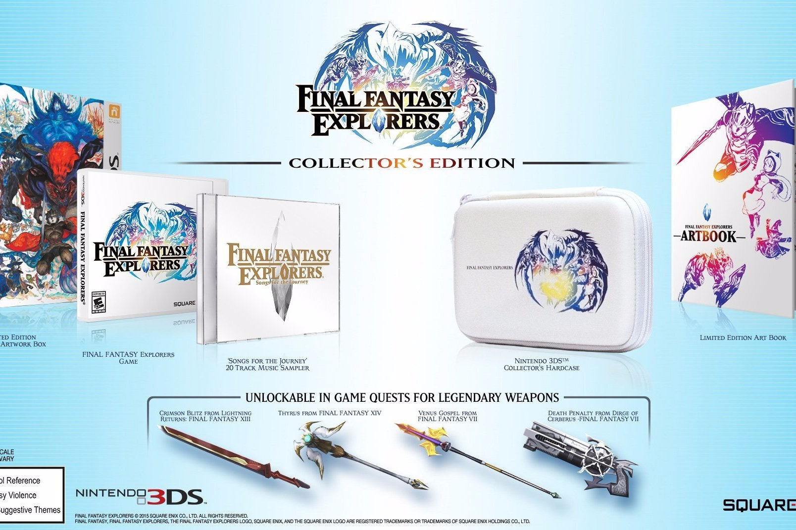 Modojo | Final Fantasy Explorers Collector's Edition Gets Detailed