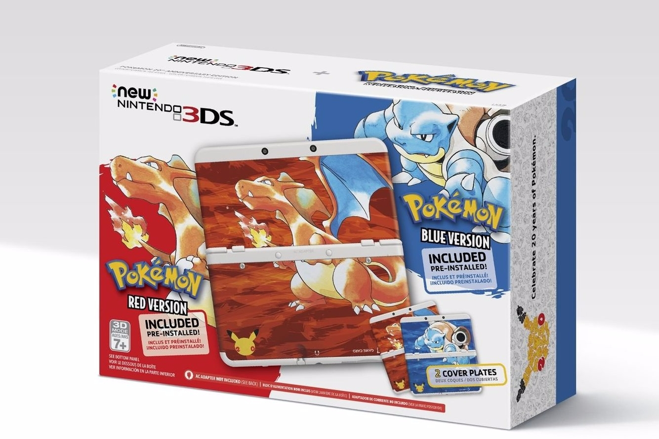Modojo | Old Meets New With New Nintendo 3DS Themed as Pokémon Red and Blue