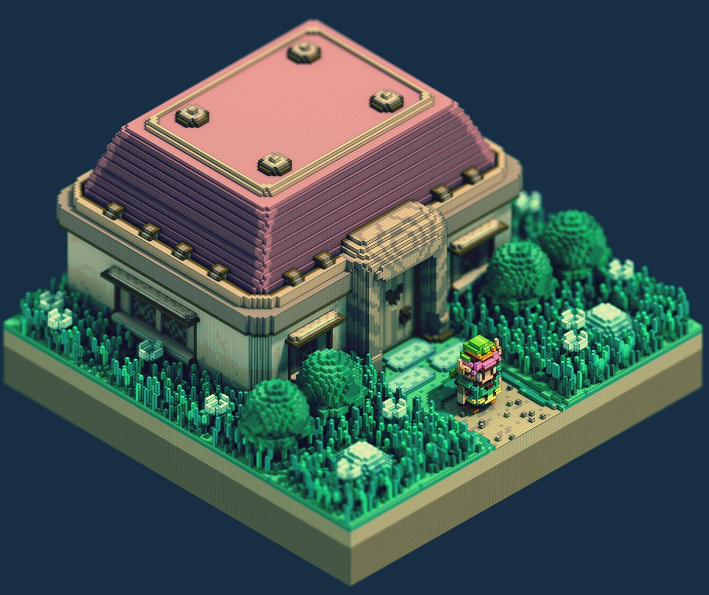 Modojo | These Voxel Legend of Zelda Images Makes Us Want a Remake of A Link to the Past