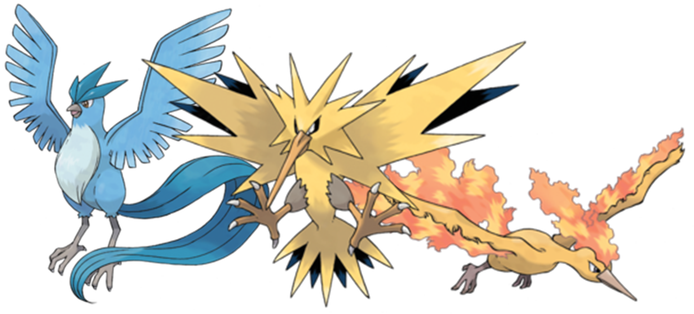 Image result for gen 1 legendary birds