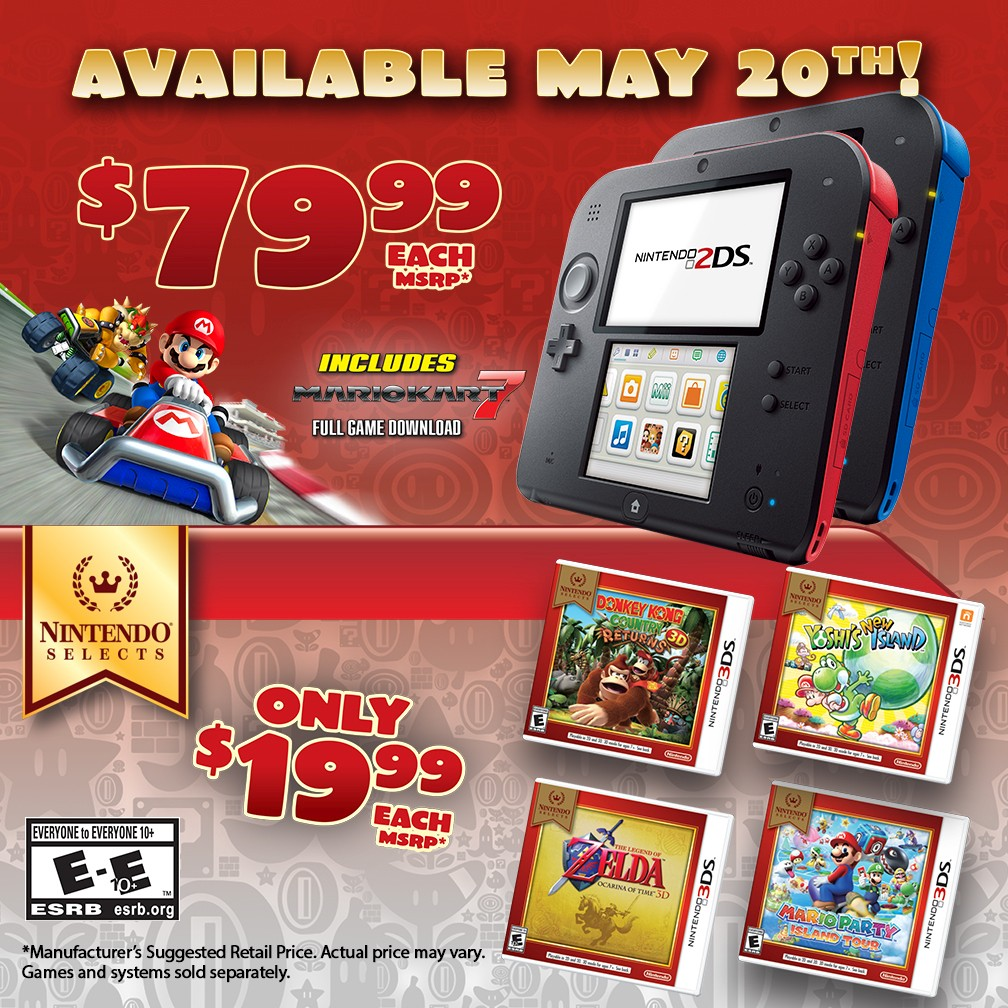 Modojo | Nintendo Slashes 2DS Prices and Announces Two New Fall Releases