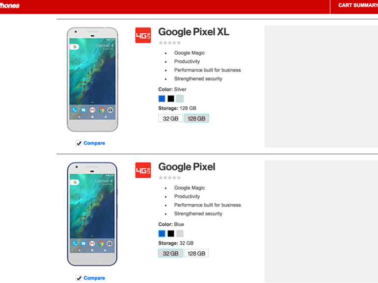 Modojo | Verizon Leaks Google Pixel Smartphone Details Ahead of Event