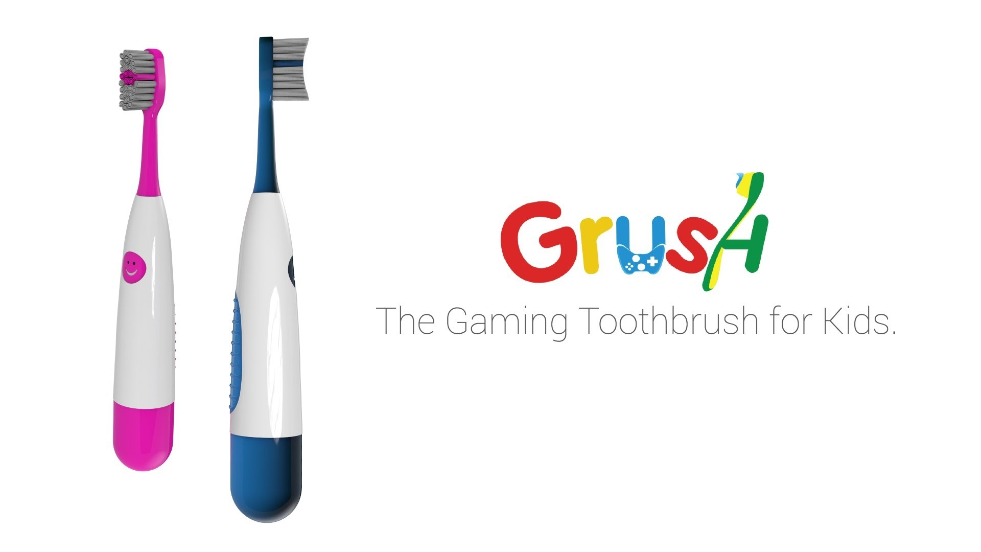 Modojo | Grush: The Gaming Toothbrush Uses Mobile Games to Make Kids Want to Brush