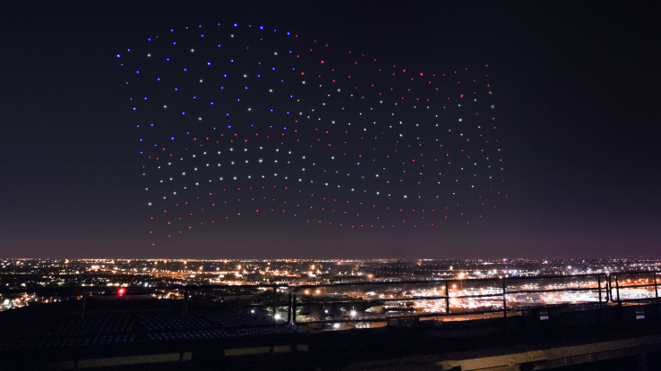 Modojo | This Drone Fleet Powered The Super Bowl Halftime Light Show