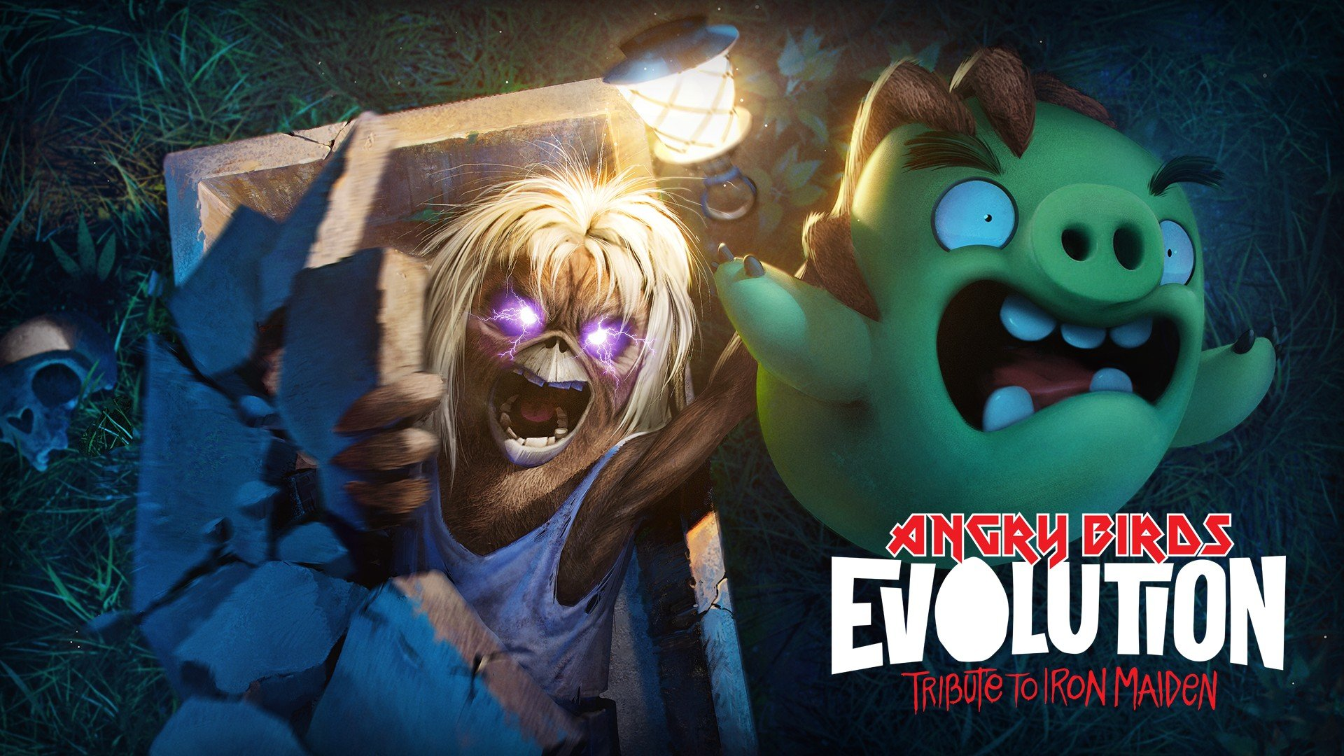 Modojo | Angry Birds And Iron Maiden Collide In Angry Birds Evolution Halloween Mashup